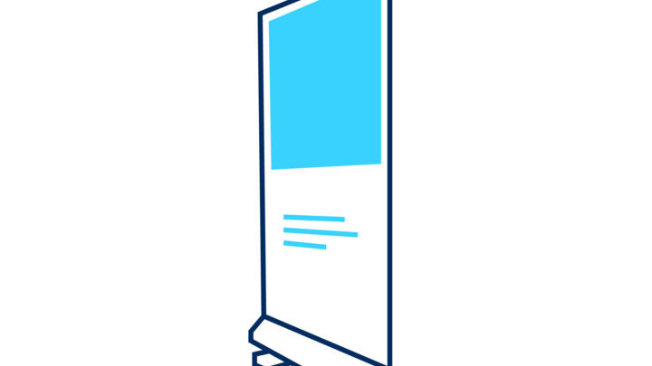 Pull-up banner pictogramme